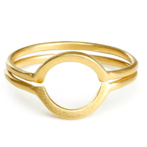 DOGEARED double Ring, Karma, gold, 2 er Set