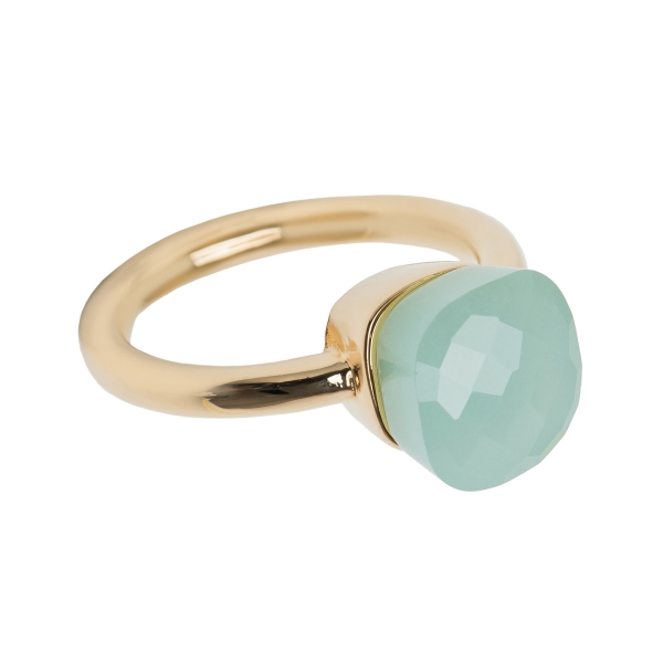 Ring eckiger Chalcedon