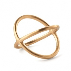 Pernille Corydon Crossed Ring gold