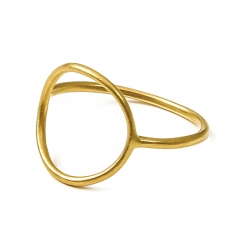 DOGEARED Ring, Karma, open circle Ring, gold